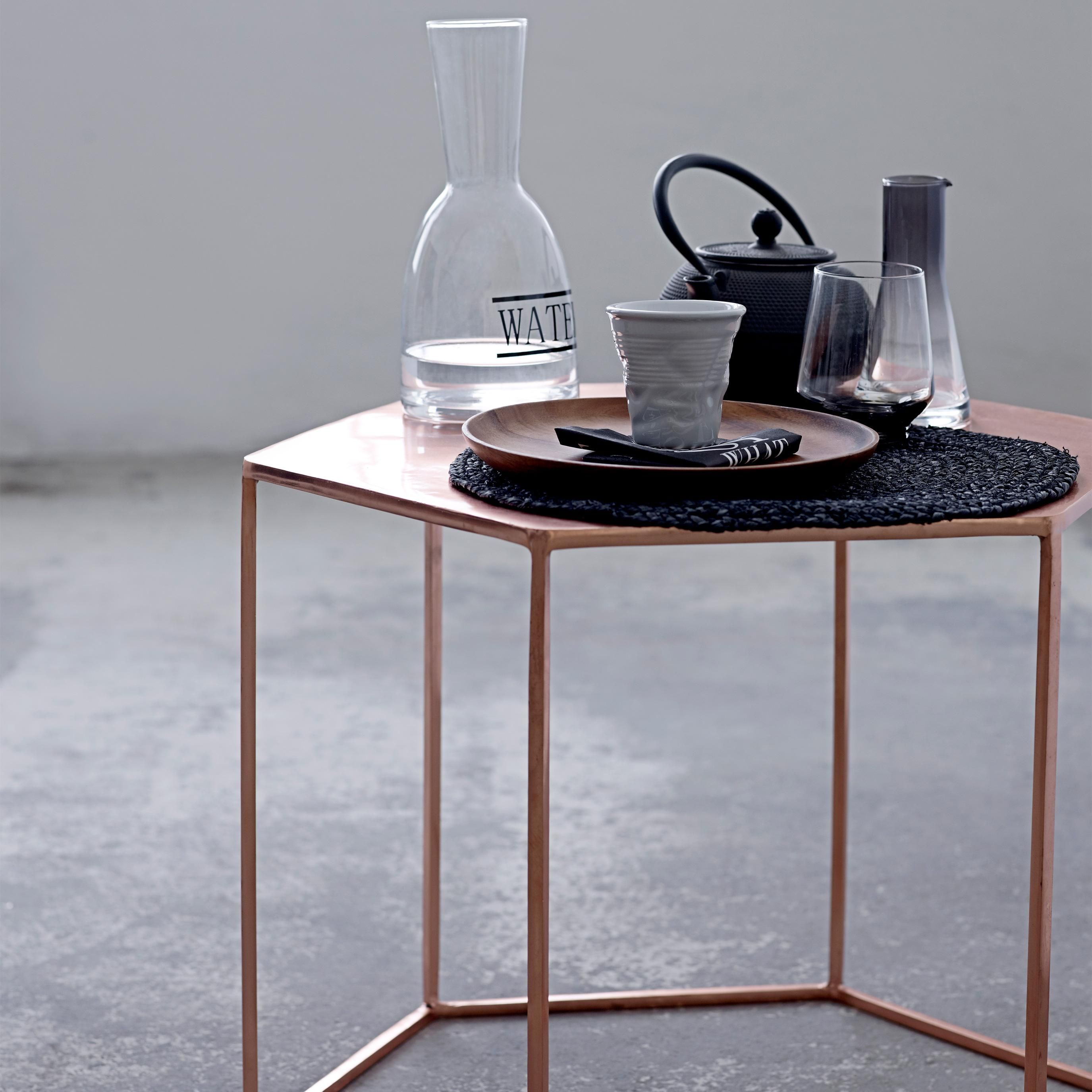 Copper Plated Hexagonal Coffee Table home Pinterest