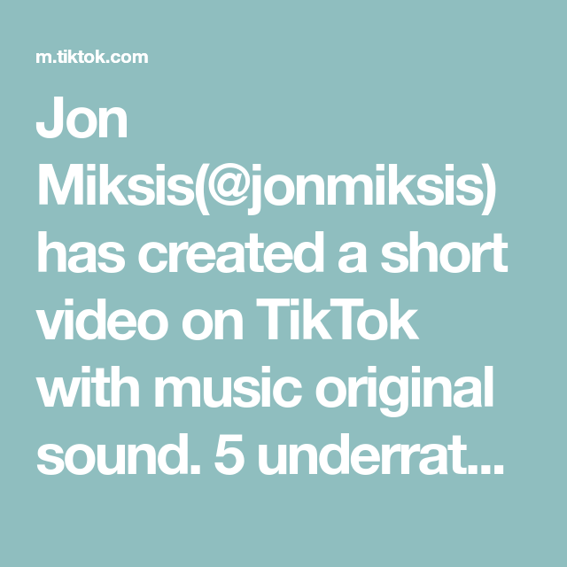 Jon Miksis Jonmiksis Has Created A Short Video On Tiktok With Music Original Sound 5 Underrated Destinations In Europe The Originals That One Friend Music