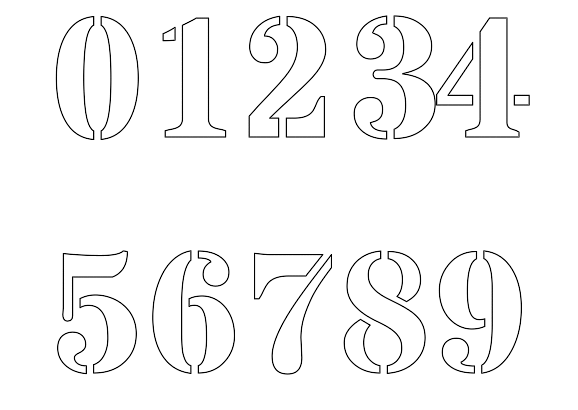 Bewitching image regarding printable number stencils