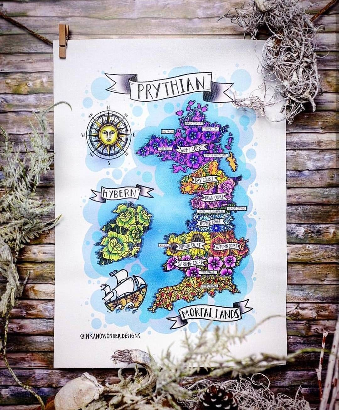 Who Was Lucky Enough To Score One Of My Prythian Map Designs That