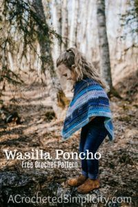Wasilla Poncho for Girls - Free Crochet Poncho Pattern - A Crocheted Simplicity
