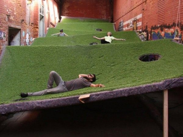 floating field designed to explore the boundaries of inhabitable space. via architizer.