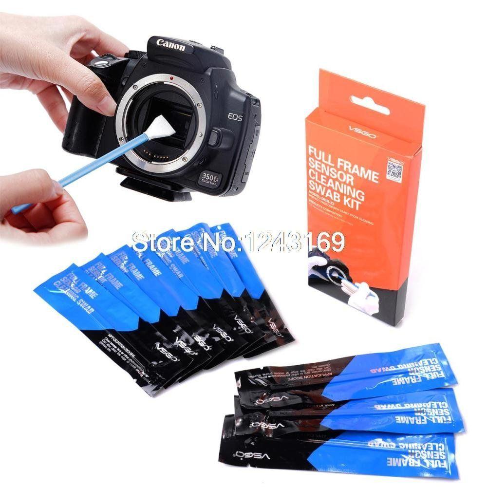 Gydoxy Tm 10pcs Professional Full Frame Sensor Cleaning Swab Kit For Digital Slr Camera For Canon For Nikon For Full Frame Sensor Canon Dslr Camera Canon Dslr