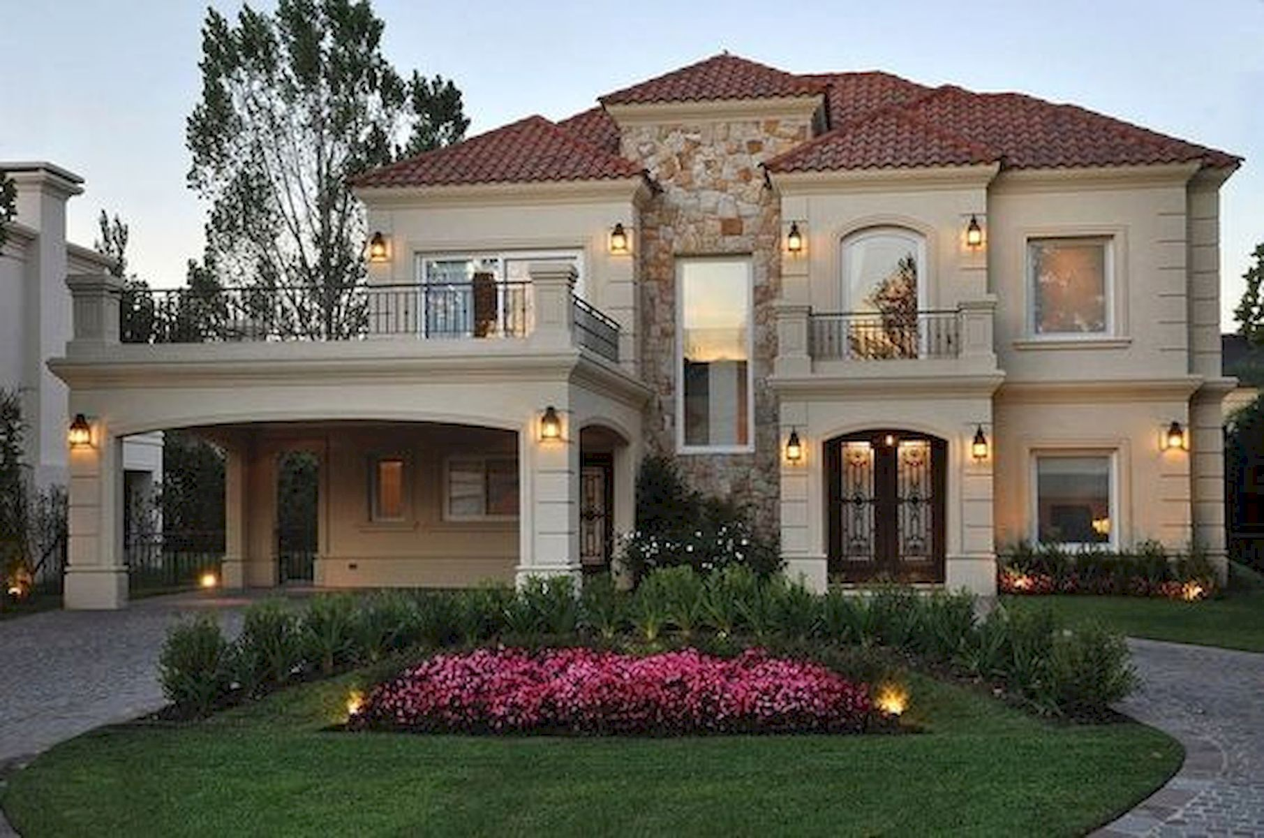 Pin By Lezama Erika On Architectural Design Luxury Homes Exterior House Designs Exterior Dream House Exterior