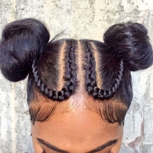 Say Hello To The New Instagram Trend Two Buns Hairstyle Hair Styles Long Hair Styles Pretty Braided Hairstyles