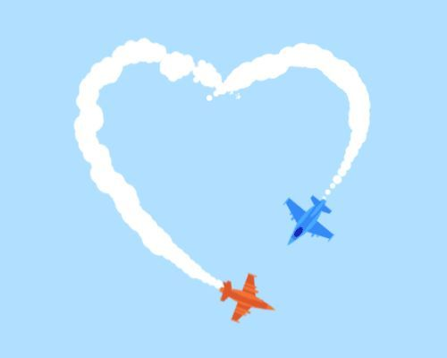 Axepeace Planes By Slimjimstudios Heart Gif Love Gif Sky Gif