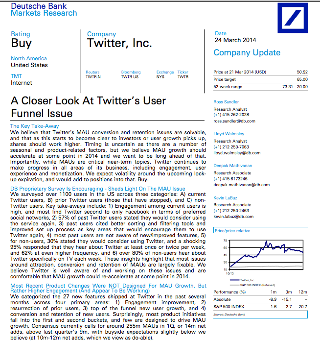 Deutsche Bank A Closer Look At Twitter S User Funnel Issue Http Pull Db Gmresearch Com Cgi Bin Pull Doc Social Media Infographic Social Web Banks Marketing
