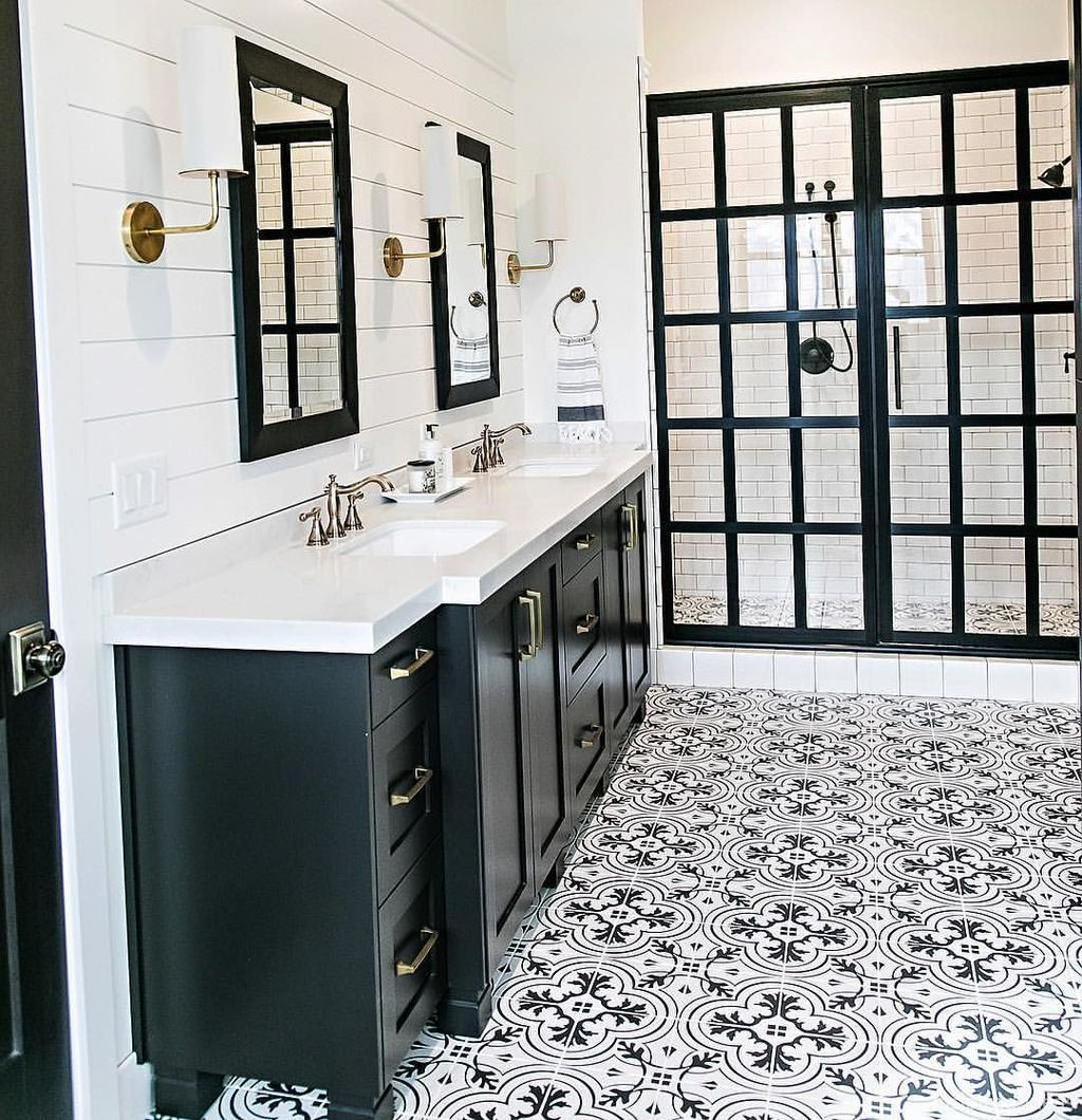 67 Incredible Modern Farmhouse Bathroom Tile Ideas 50 Farmhouse Shower Bathroom Styling Modern Farmhouse Bathroom