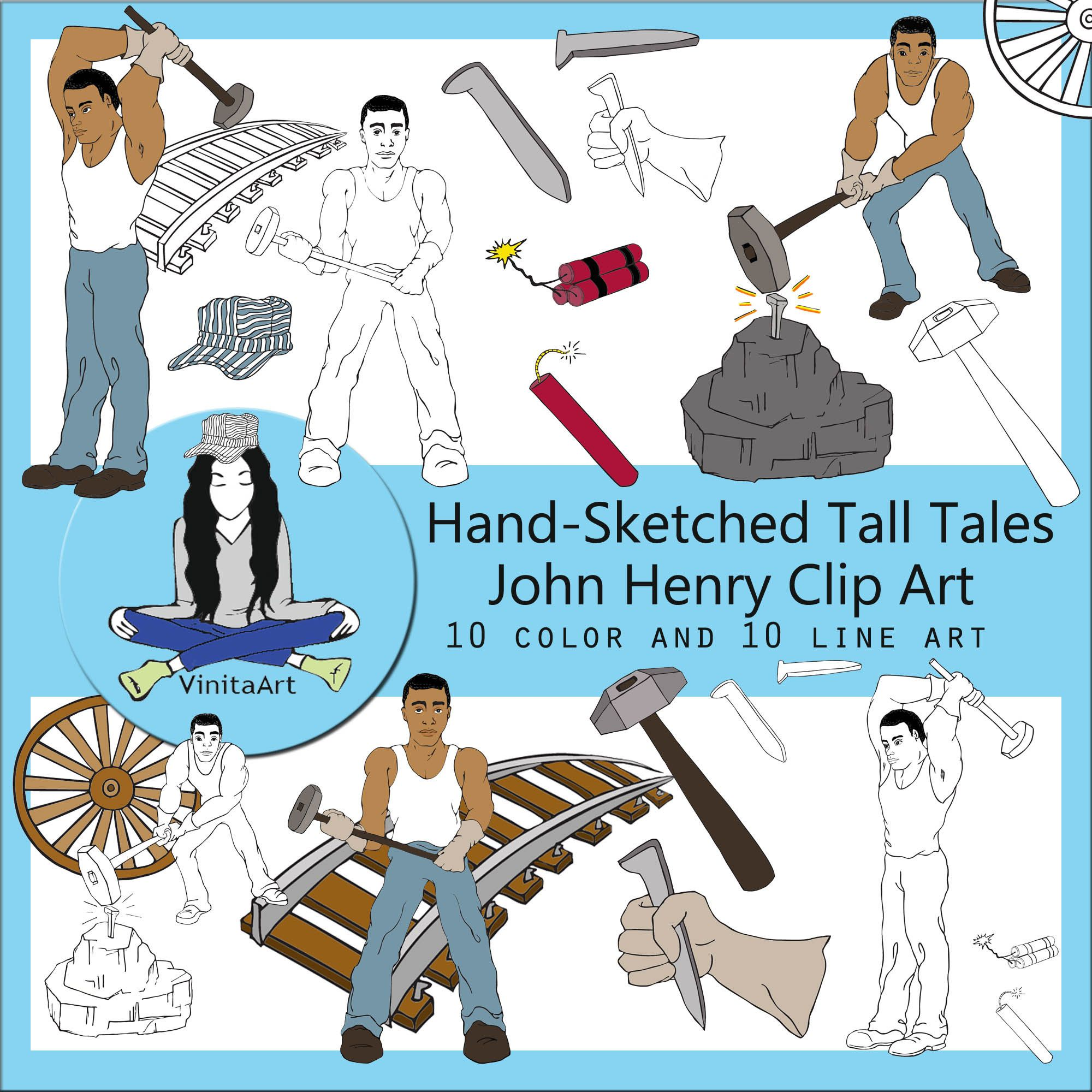 John Henry Clip Art Downloadable Tall Tales Home School