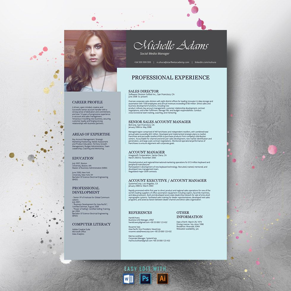 resume template and  free cover letter   resume word   photo resume   teacher resume