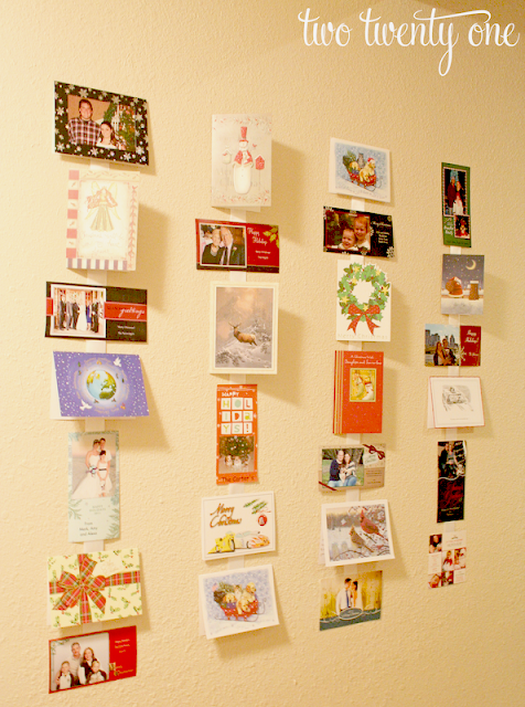 DIY Ribbon Christmas Card Holder (Simple Christmas Craft), by ...