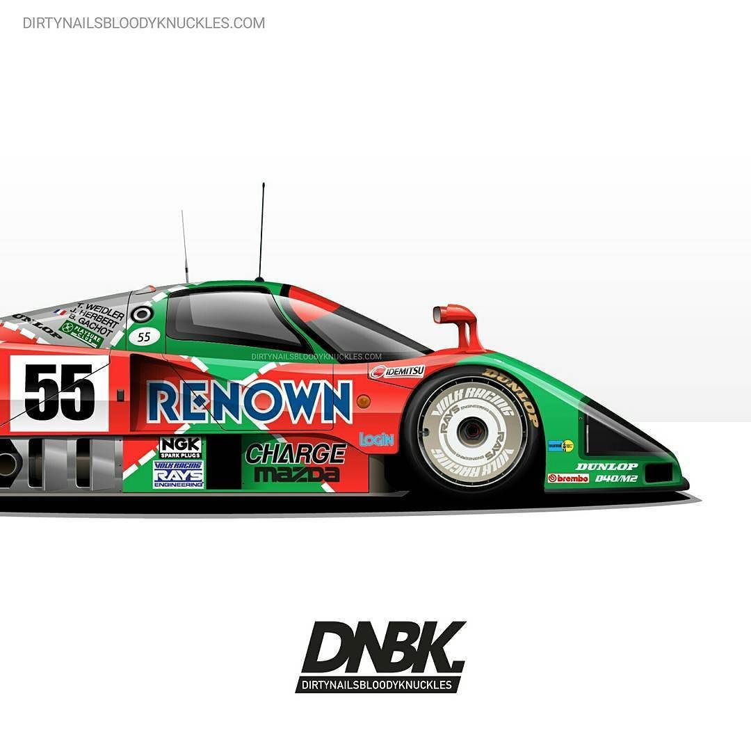 787B artwork. Prints available at Dirtynailsbloodyknuckles.com  Link in profile  #mazda #787 #787b #rotary #lemans #racecar #becauseracecar #renown #charge #mazda767 #motorsport #motorsportart #volkracing #rx7 #fd #fd3s #fd3srx7 #rotaryfans #rotaryshirt #rotarypower #wankel #rotaryengine #mazdaspeed #mazdarx7