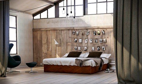 Conception chambre avec panneaux en bois | Panneaux en bois ...