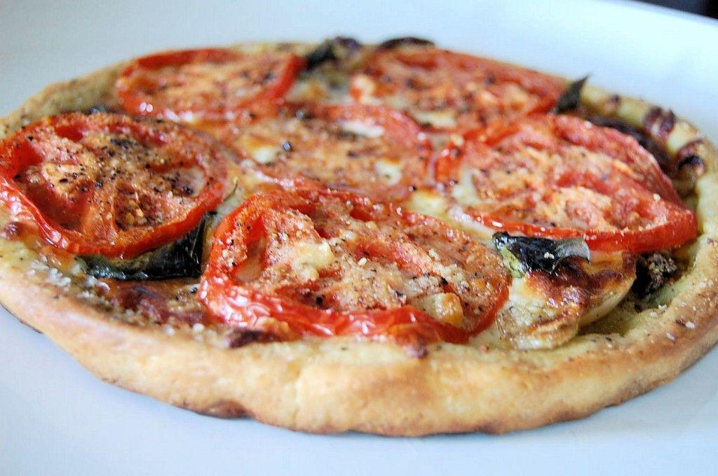 Tomato and onion tart with cornmeal crust