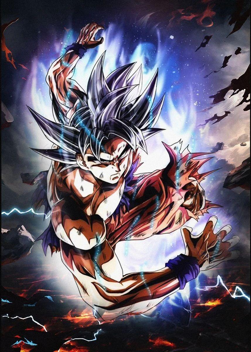 Son Goku Poster By Lony Cocai Displate Dragon Ball Dragon Ball Super Manga Dragon Ball Super Goku