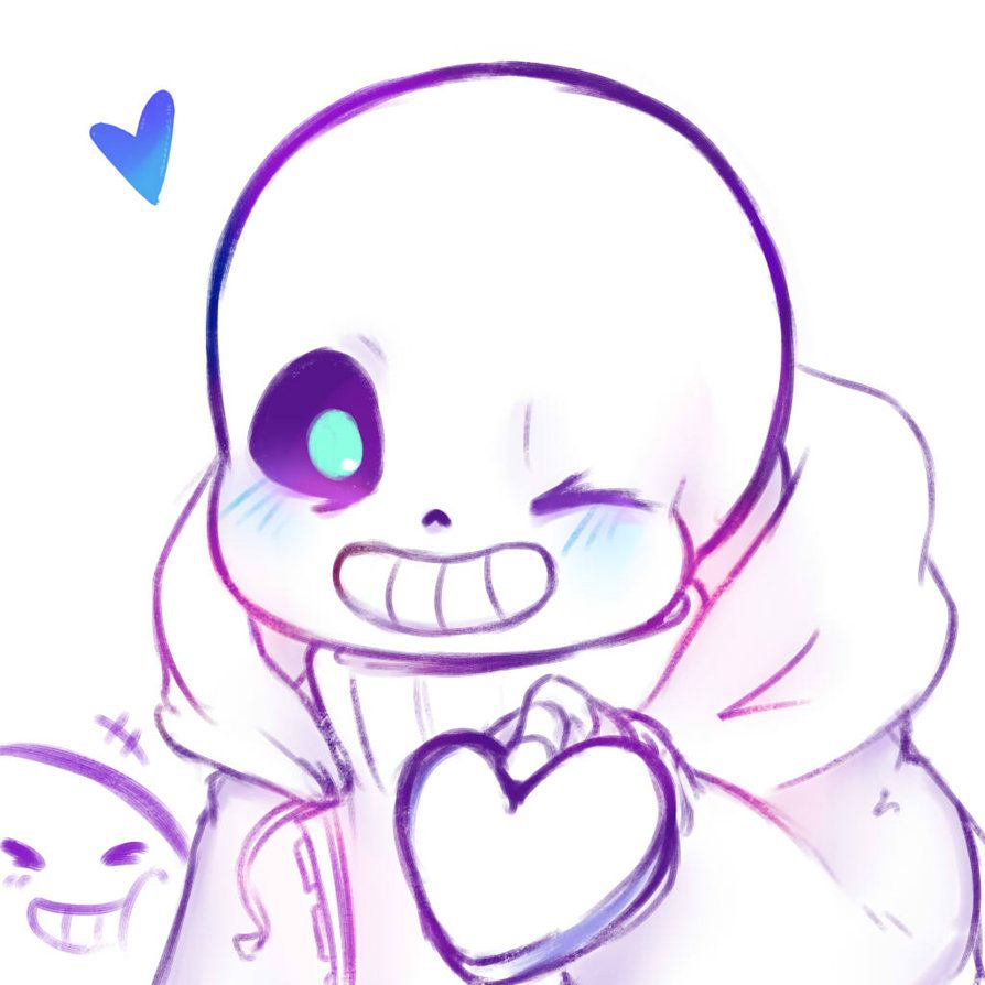 'Hello Hello i love you : ]' Sans blush is such fun to draw!