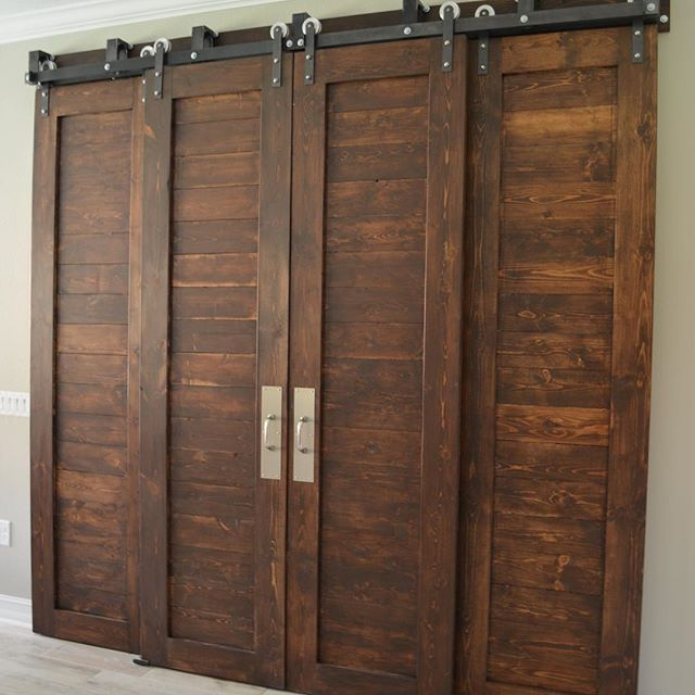 The Bypass System Can Be A Miracle Worker If You Want Barn Doors But Don T Have Extra Wall Space Barn Doors Sliding Sliding Barn Door Hardware Bypass Barn Door