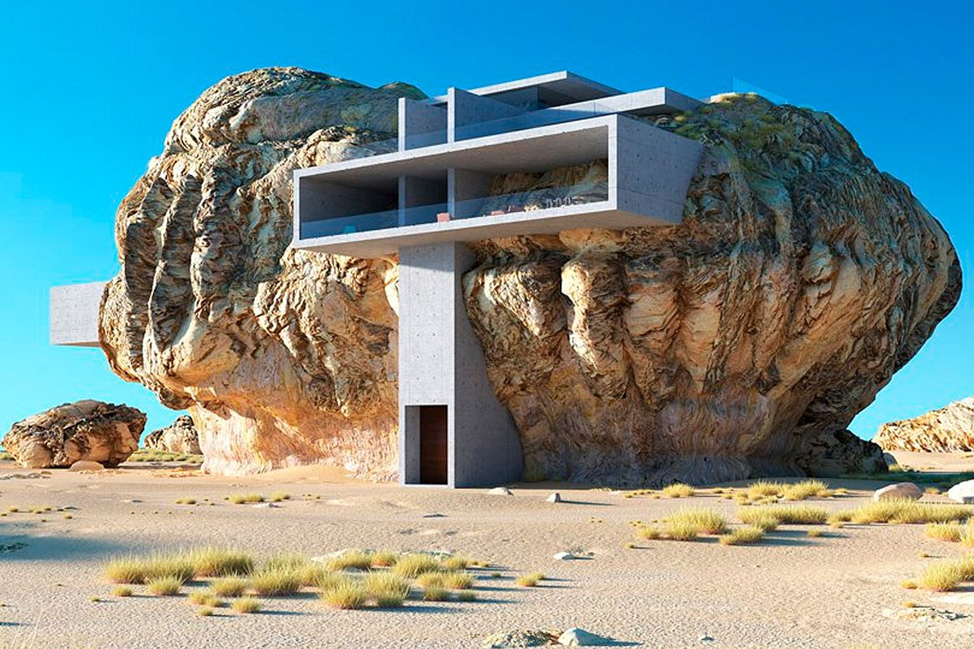 House Inside A Rock Uncrate Crazy Houses Organic Architecture Unusual Homes
