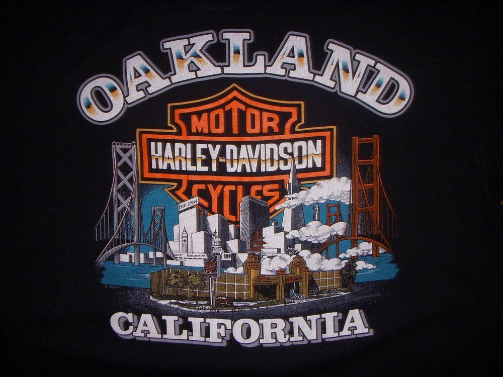 men's harley davidson oakland california black large t-shirt