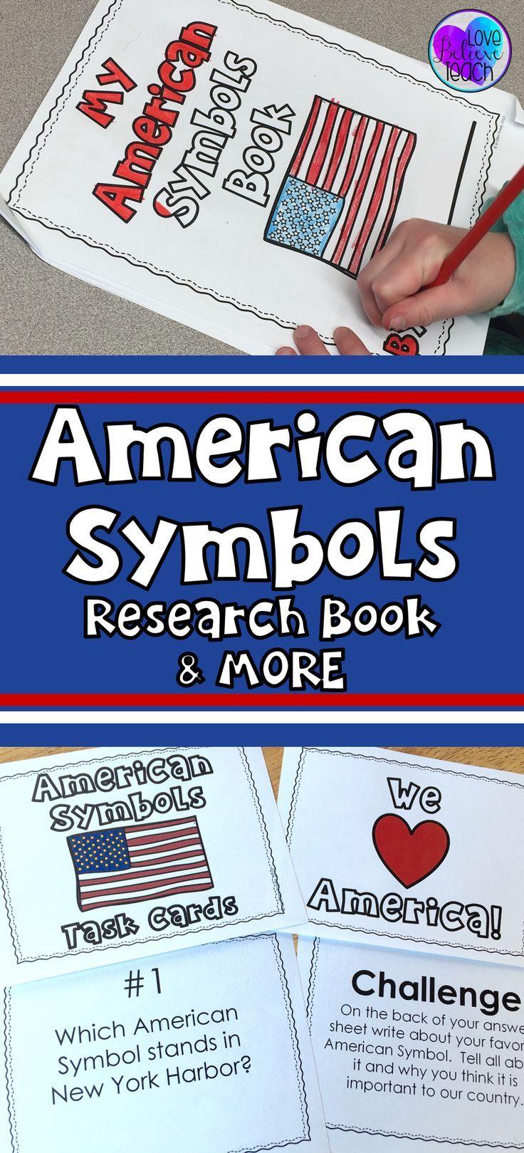 American Symbols Research Book Pinterest American Symbols