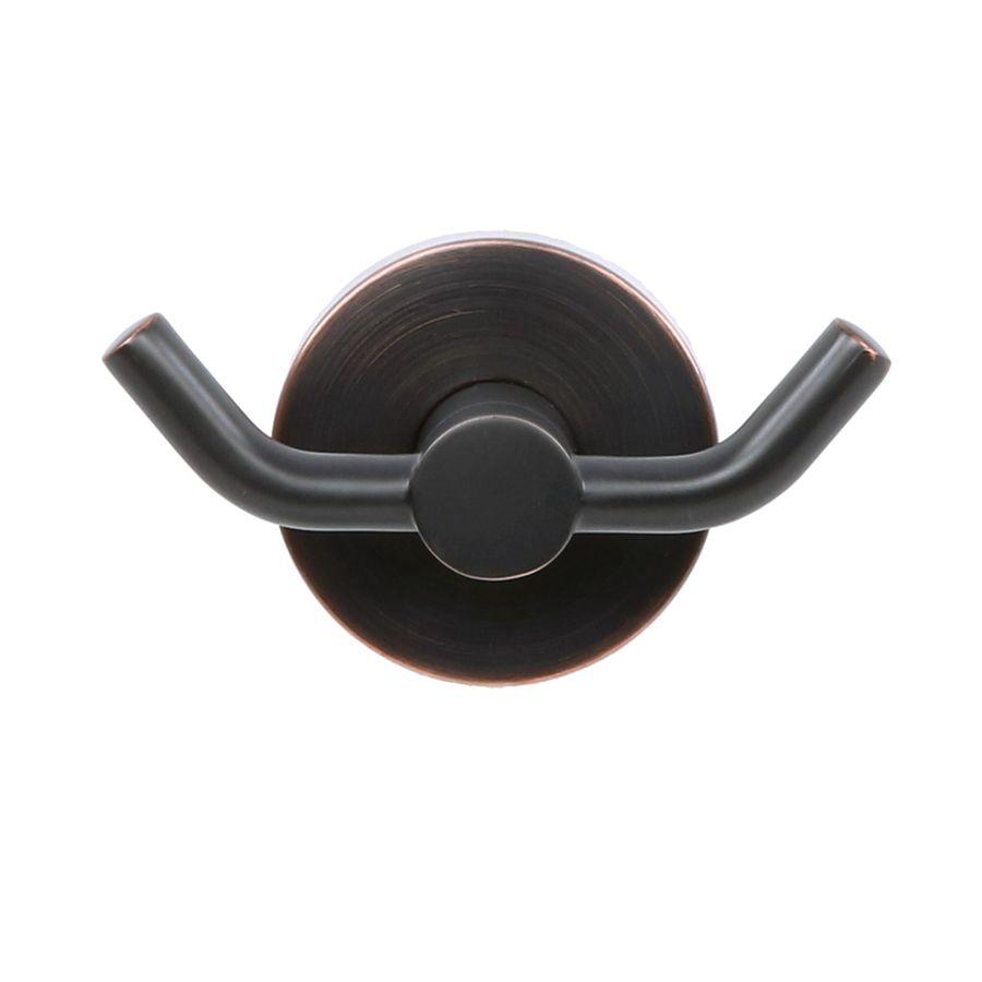 Allen Roth Salem Double Hook Oil Rubbed Bronze Towel Hook Lowes Com In 2021 Towel Hooks Bathroom Hardware Set Oil Rubbed Bronze