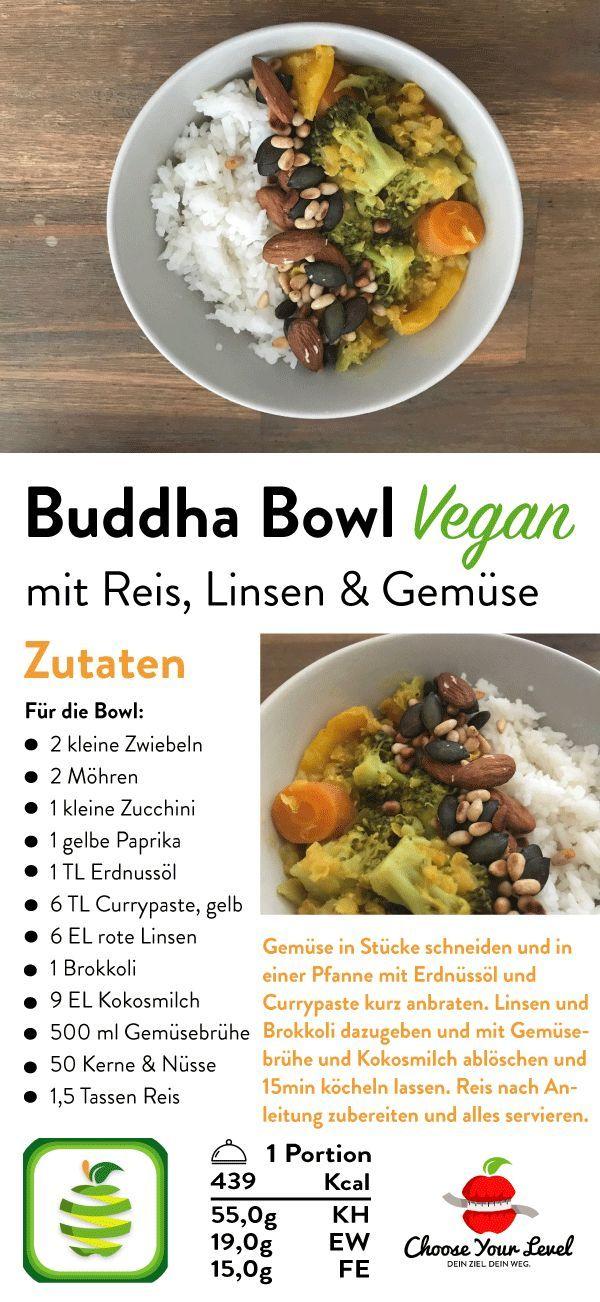 Reis Linsen Buddha Bowl Rezept – Choose Your Level™