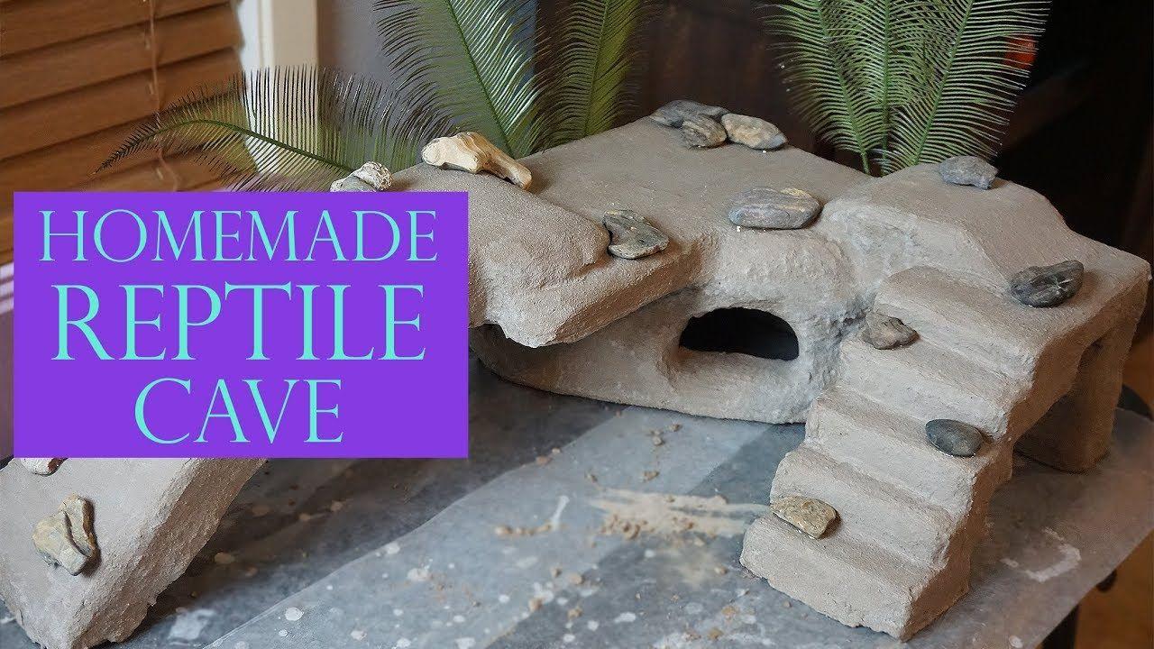 Huge DIY Reptile Cave Step By Step! Diy reptile