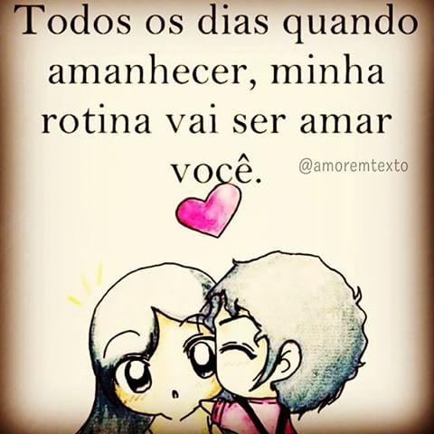 Já Virou Rotina Bom Dia Amor Tumblr Frases De Amor