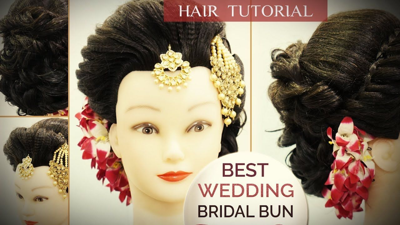 best wedding bun hair style tutorial | step by step perfect