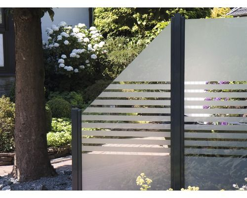 Zaunelement Belfort Streifen 90 x 180 cm Sichtschutz