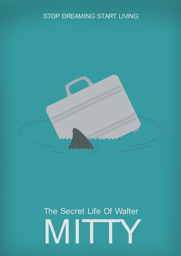 The Secret Life Of Walter Mitty 2013 Minimal Movie Poster By