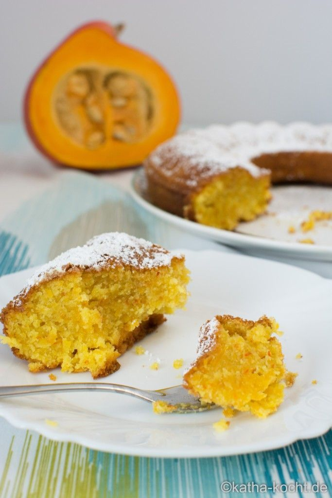 Kürbis Orangen Kuchen - Katha-kocht! #halloweenkuchen