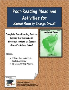 powers of math face off nbt george orwell of and animals complete set of post reading ideas and activities for reviewing concluding george orwell s animal