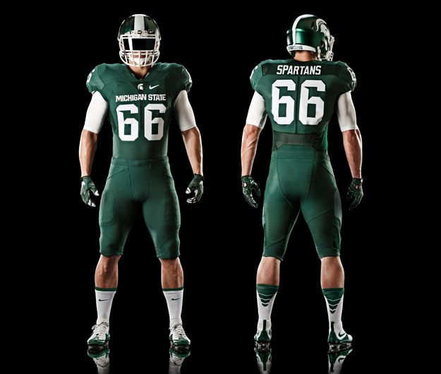 New Michigan State Football Uniforms For 2015 Nikeblog Com Football Uniforms Michigan State Football American Football