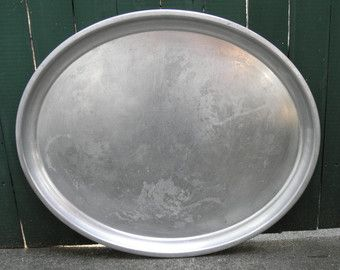 Large Oval Vintage Aluminum Wear Ever Waiter Tray Made In Usa Serving Tray Bussing Tray Lap Tray Work Tray 26 By 21 Inch Lap Tray Oval Tray Aluminum Tray