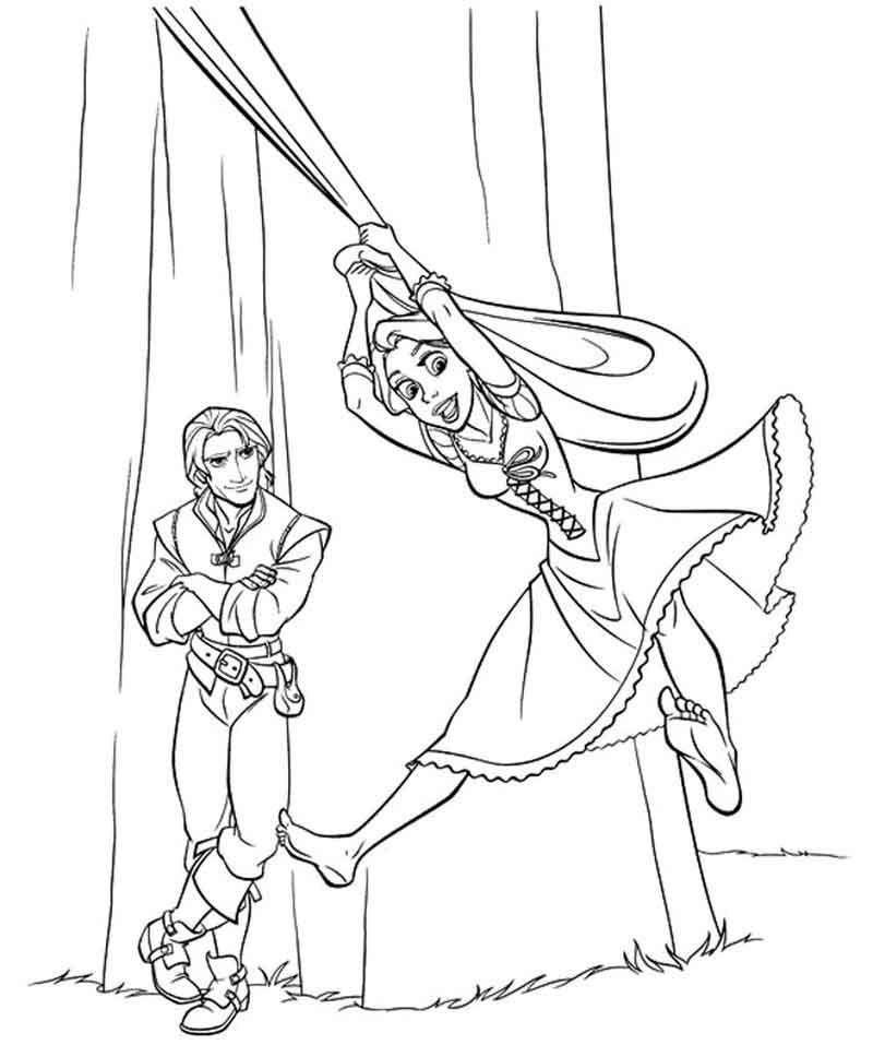 Free Rapunzel Coloring Page Printable Coloriage Pages De Coloriage Disney Livre De Couleur