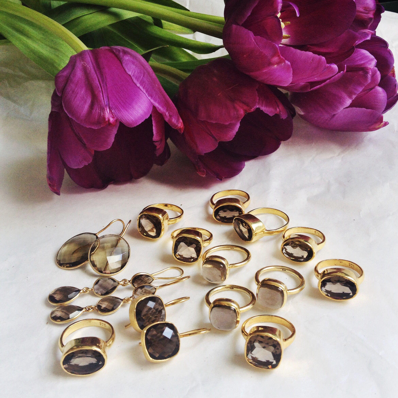 Instagram @yunilismiles smoky quartz jewelry