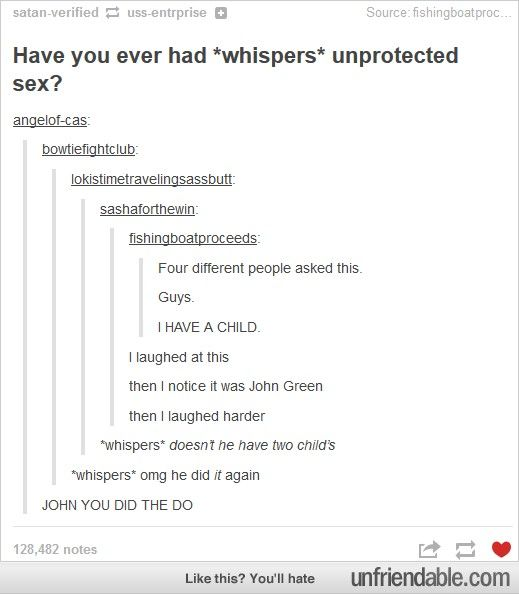 Apparently what John Green does is important// Of course Sarah is important! <---THE YETI