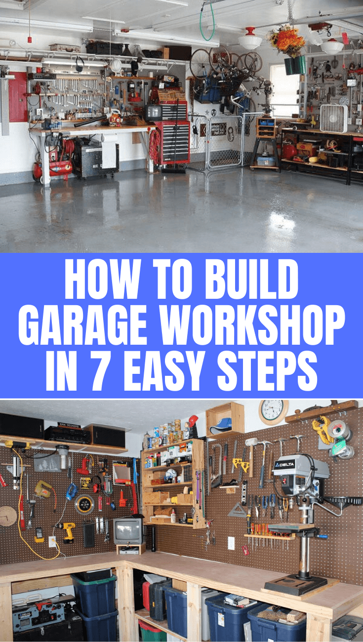 Photo of HOW TO BUILD GARAGE WORKSHOP IN 7 EASY STEPS