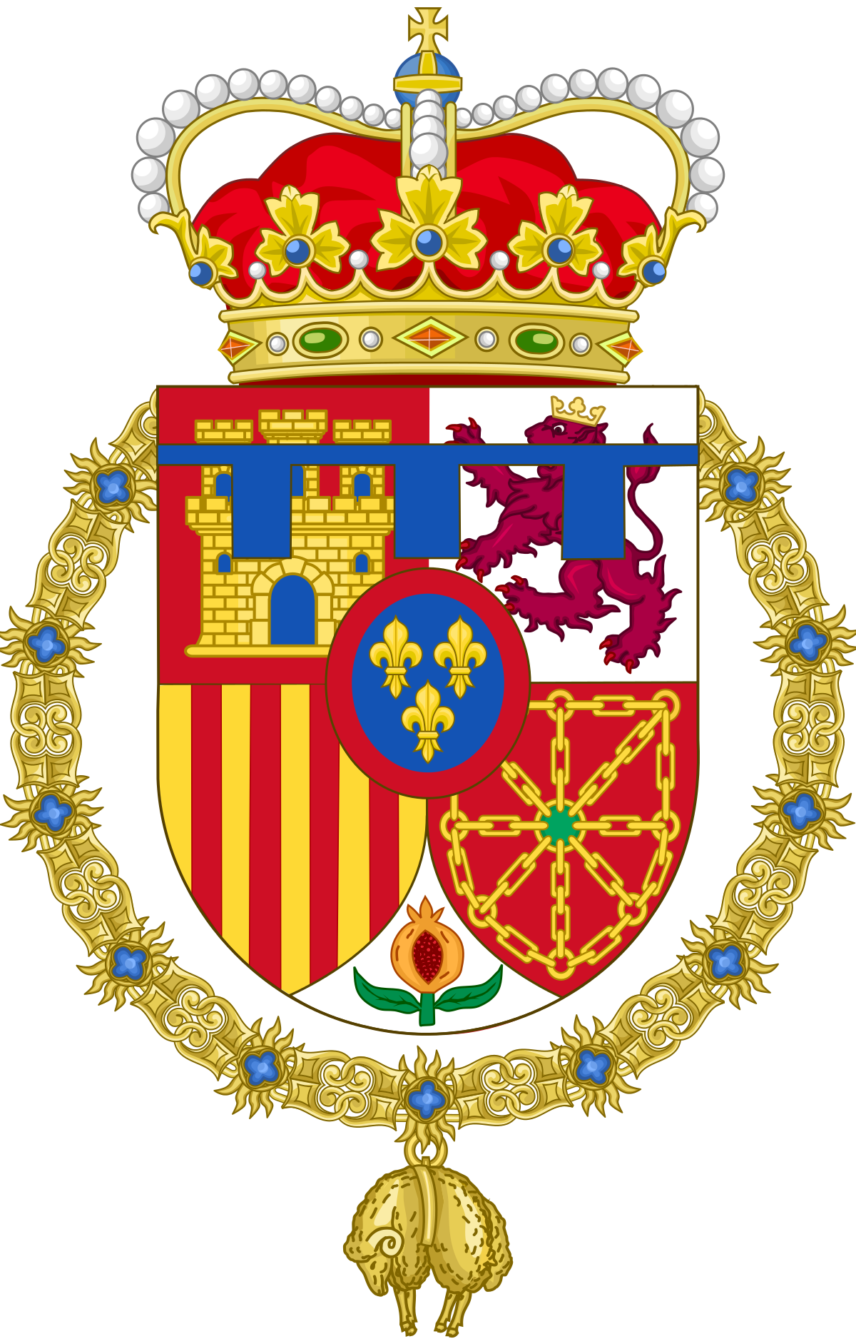 Prince Of Asturias Wikipedia Coat Of Arms Heraldry Spanish Royal Family