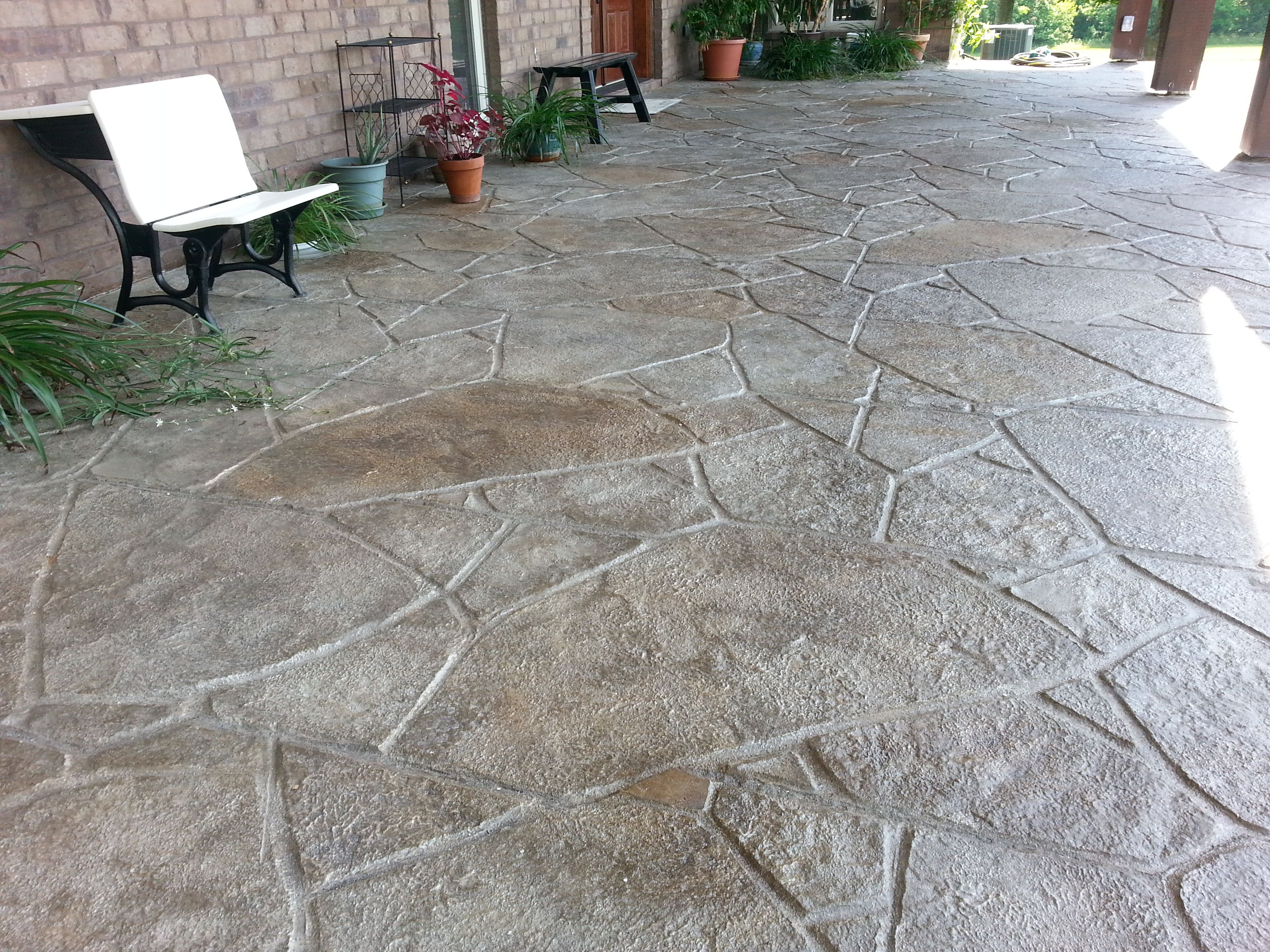 stain stamp overlay concrete patio