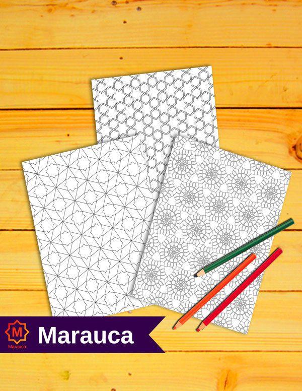 3 Pages A Colorier Imprimable Mosaique Marocaines Art Islamique