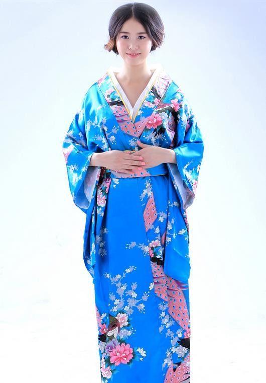32a904badb 2016 Traditional Japanese Clothing Unique Japanese Flower Long Kimono Japan  Silk Studio Portrait Theatrical Costume Red Komono