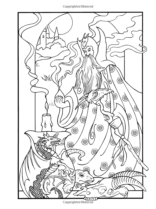 Wondrous Wizards (Dover Coloring Books) | Caio <3 | Pinterest ...