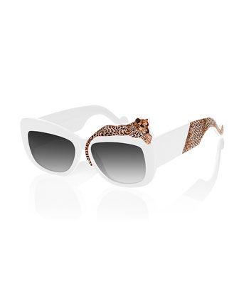 85157efbc8e Rose Et La Mere Leopard Sunglasses