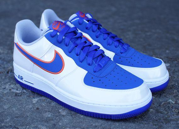 Nike Air Force 1 Faible Orange Bleu