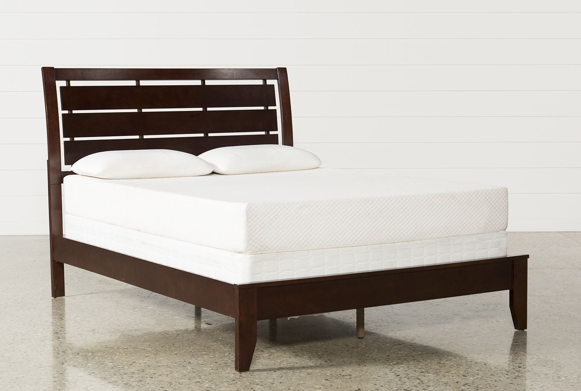 Queen Panel Bed, Chad, Medium Brown