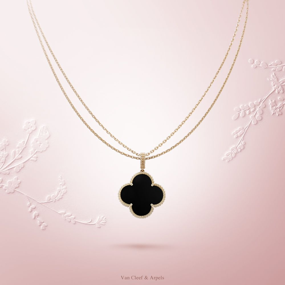 6a603cd4bab Van Cleef   Arpels Magic Alhambra 1-motif long necklace  VCAalhambra -  Yellow gold