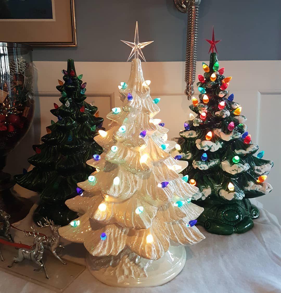 Got my trees up!! #vintage #christmas #ceramic #tree #christmastime ...