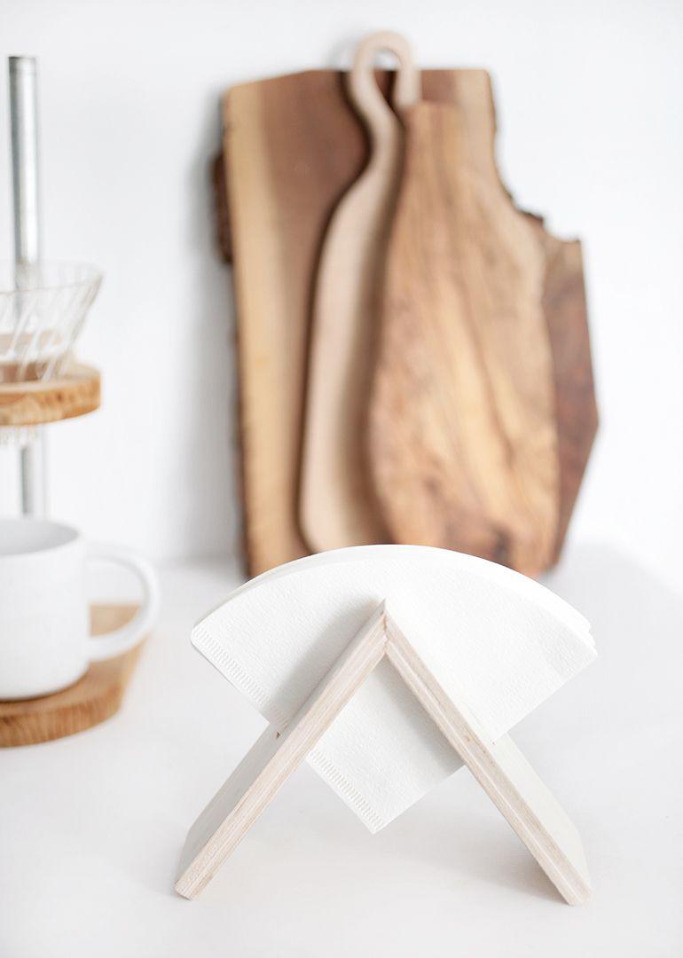 Diy coffee filter stand aksesuarlar mutfak makyaj